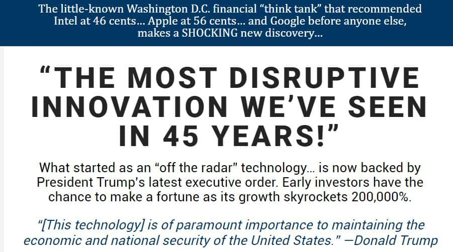 The most disruptive innovation we've seen in 45 Years by Louis Navellier