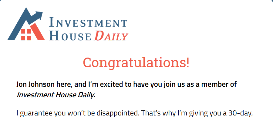 investment house daily website