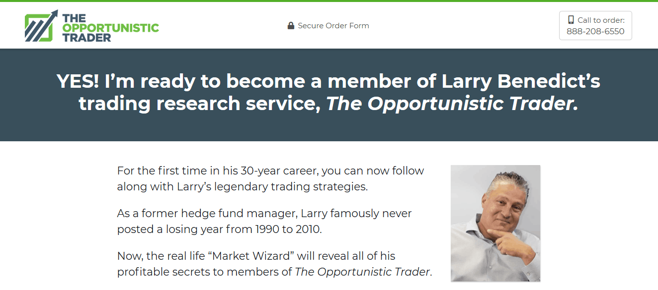 The Opportunistic Trader - Is Larry Benedict's Service Legit? 2