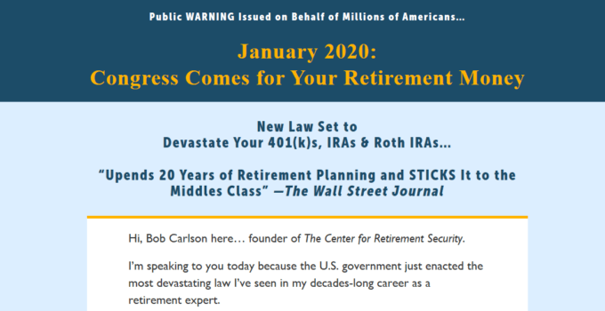 New American Retirement Plan by Bob Carlson [Unbiased Review] 15