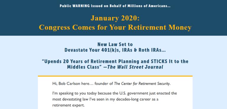New American Retirement Plan Book [Bob Carlson Reviews] 13