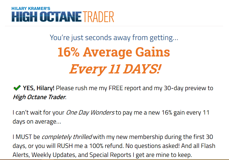 High Octane Trader - Are Hilary Kramer's 'One Day Wonders' Legit? 2