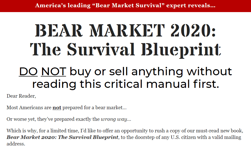 Bear Market 2020 - Is The Survival Blueprint Legit? 8