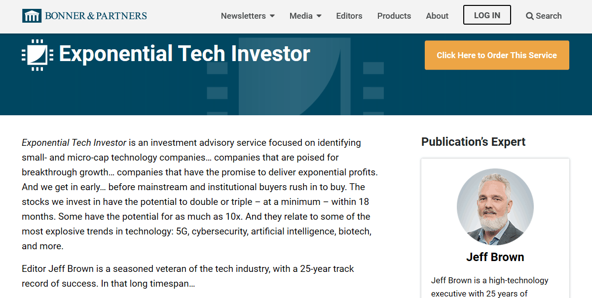Exponential Tech Investor by Jeff Brown [Unbiased Review] 2