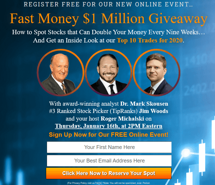 Fast Money $1 Million Giveaway