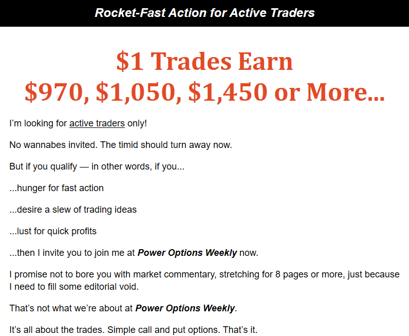 Power Options Weekly