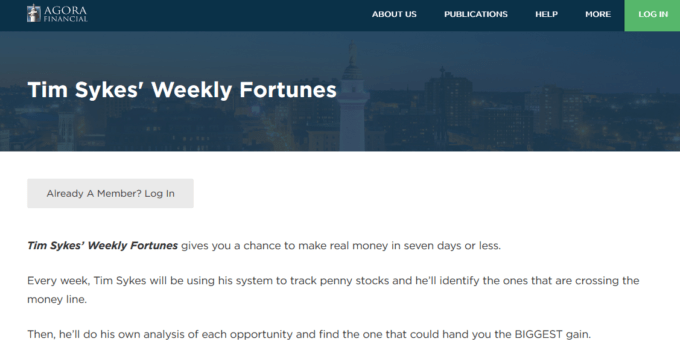 "Is ""Tim Sykes' Weekly Fortunes"" Worth Your Time? 1"