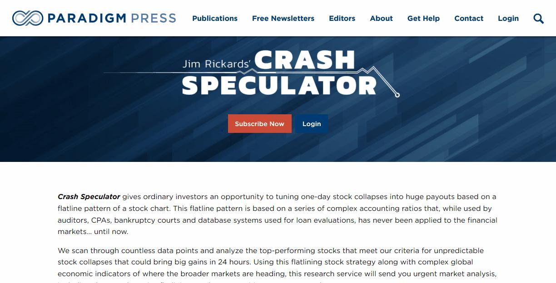 Jim Rickards' Crash Speculator