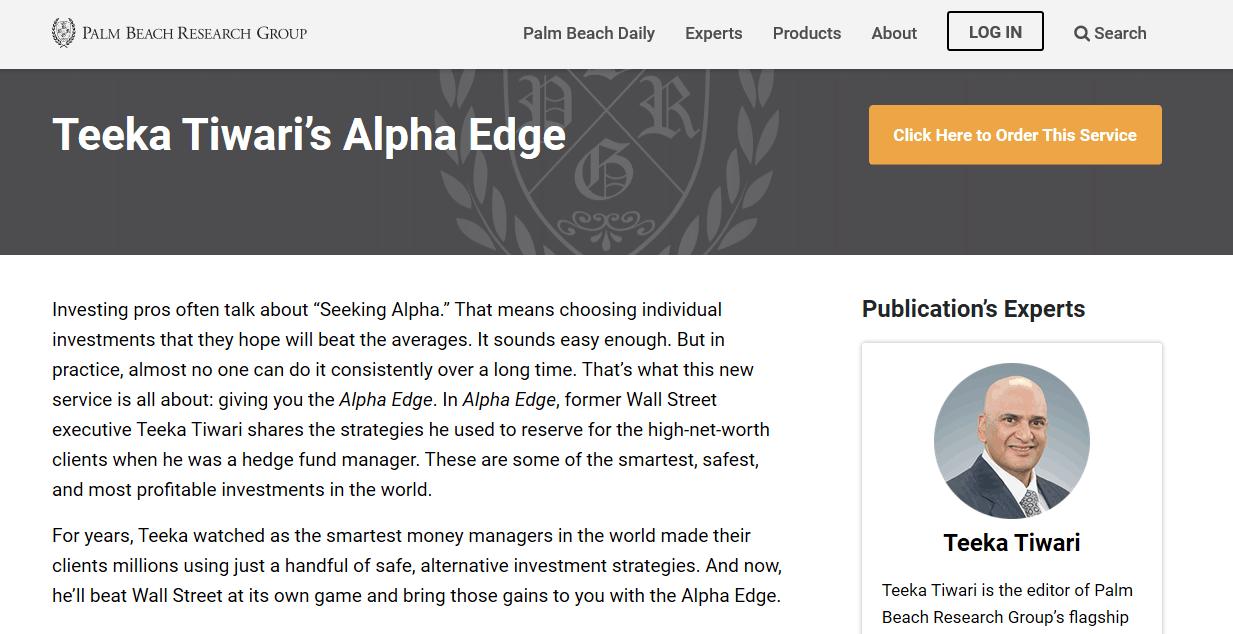 Teeka Tiwari's Alpha Edge