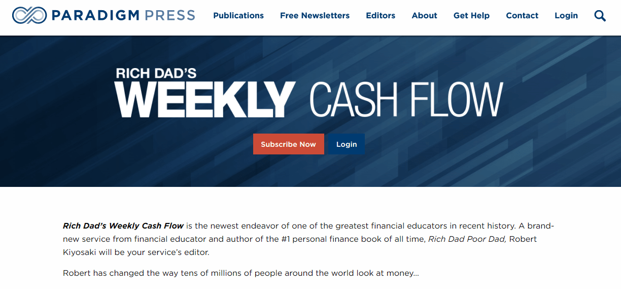 Rich Dad's Weekly Cash Flow