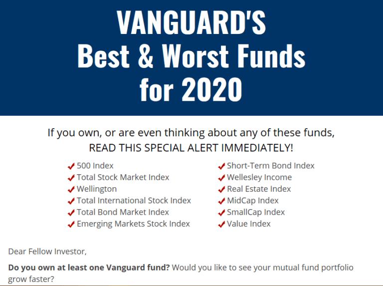 Vanguards Best & Worst Funds For 2020