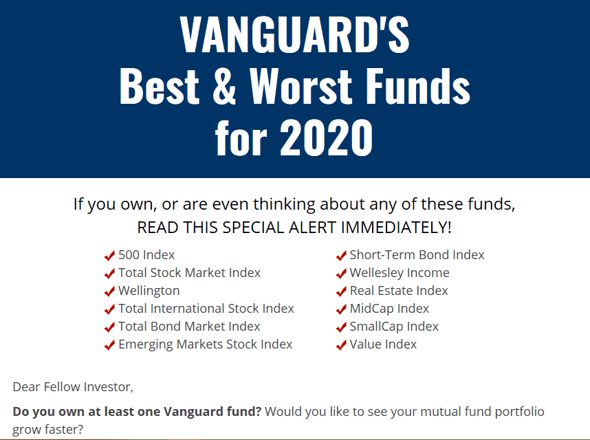 Vanguards Best & Worst Funds For 2020