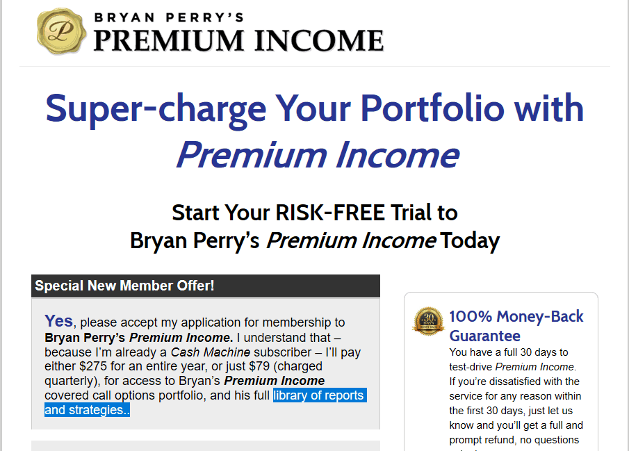 Bryan Perry's Premium Income [Unbiased Review] 8
