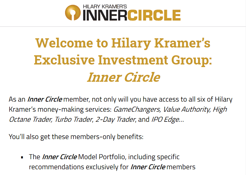 Inner Circle - Is Hilary Kramer's Inner Circle Legit? 2