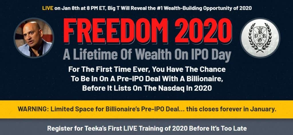 Freedom 2020 by Teeka Tiwari