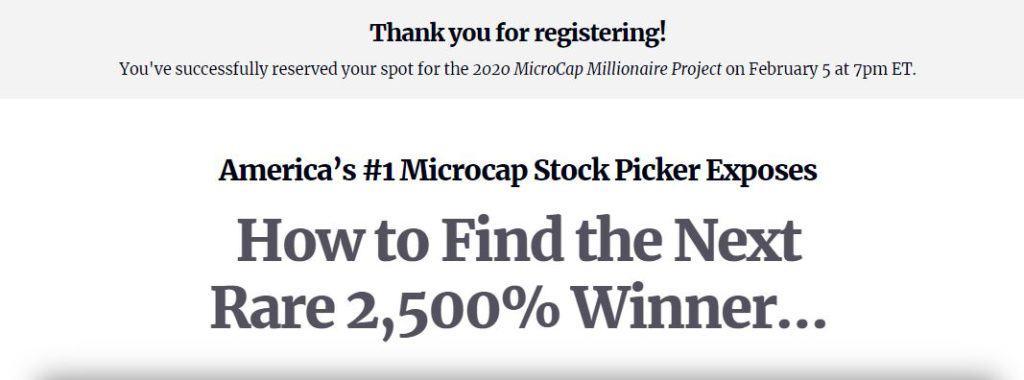 Microcap Millionaire Project by Matt McCall