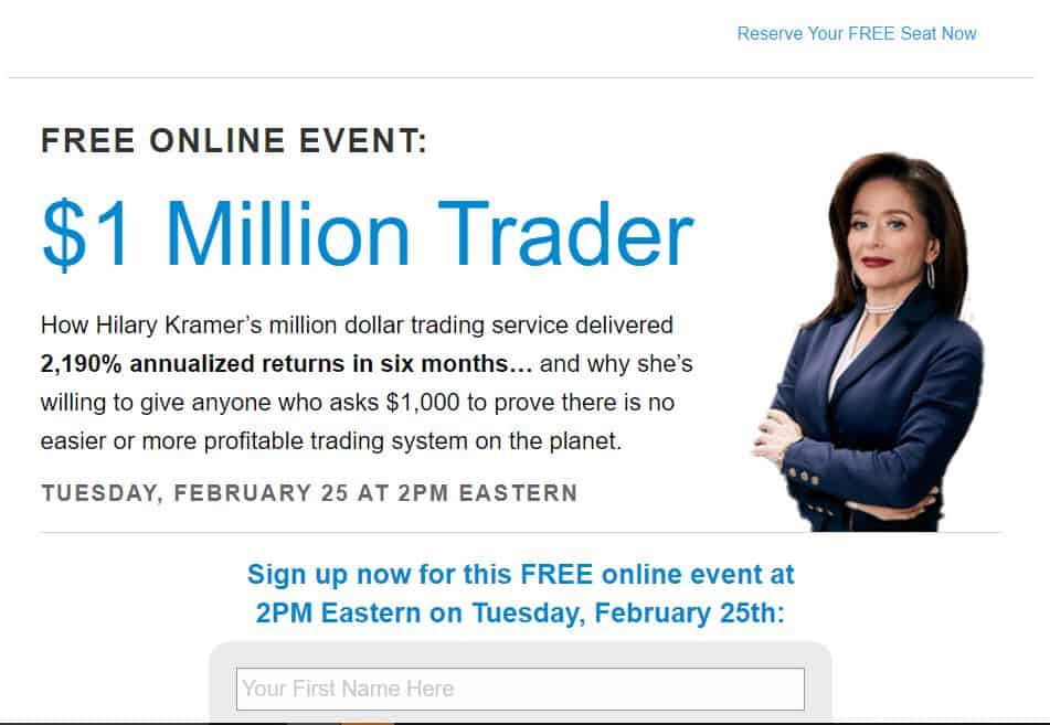 $1 Milllion Trader by Hilary Kramer