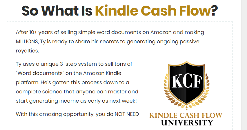 Kindle Cash Flow
