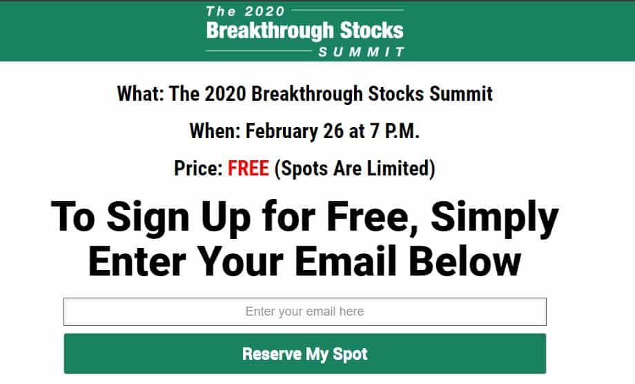 Breakthrough Stocks Summit by Louis Navellier