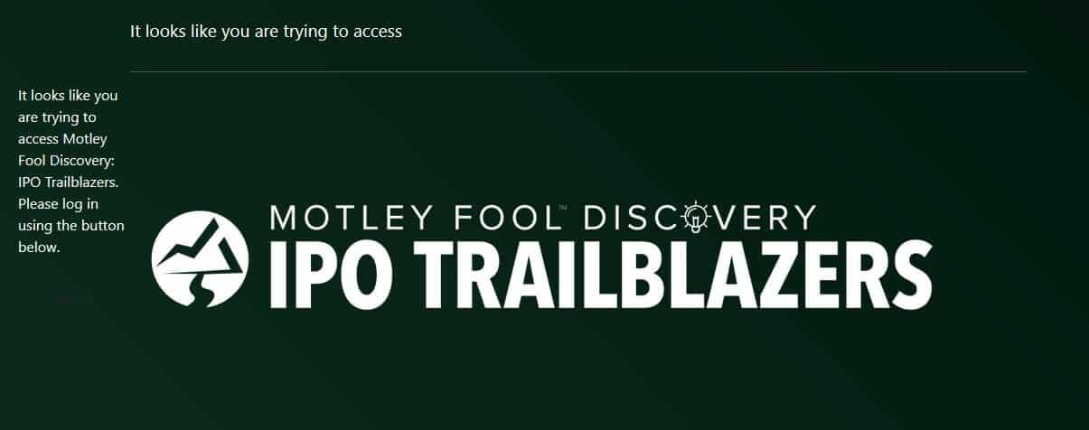 Motley Fool IPO Trailblaizers