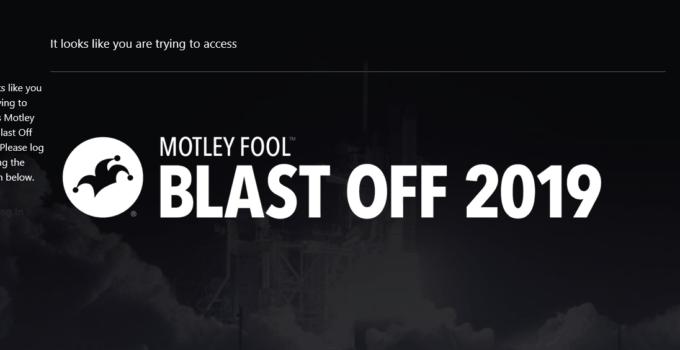 Motley Fool Blast Off 2019