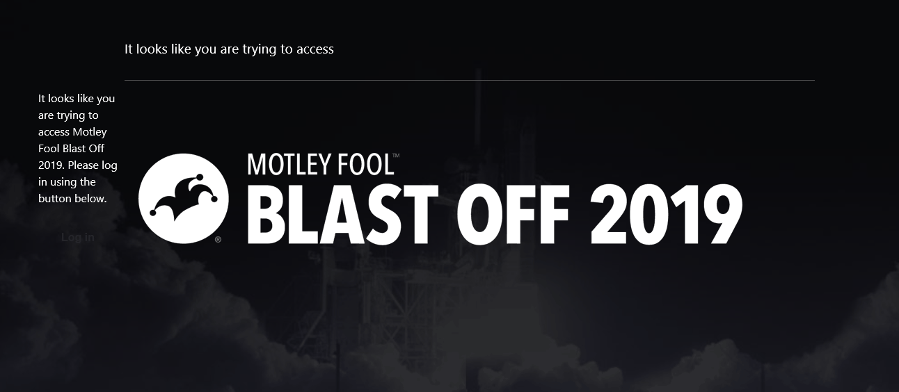 Motley Fool Blast Off 2019