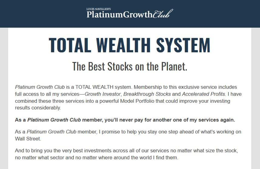 Louis Navellier's Platinum Growth Club