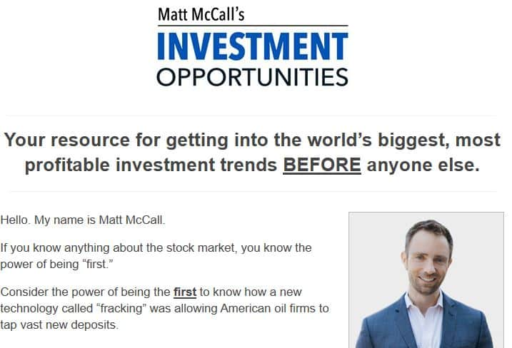 Matt McCall's Investment Opportunities