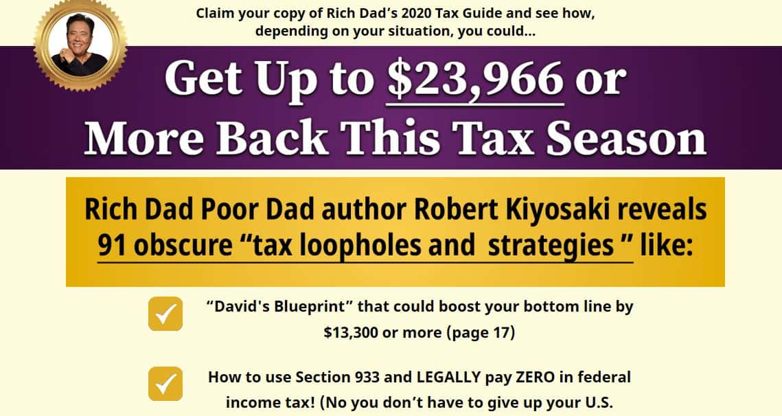 "Is ""Rich Dads 2020 Tax Guide"" Legit? 5"