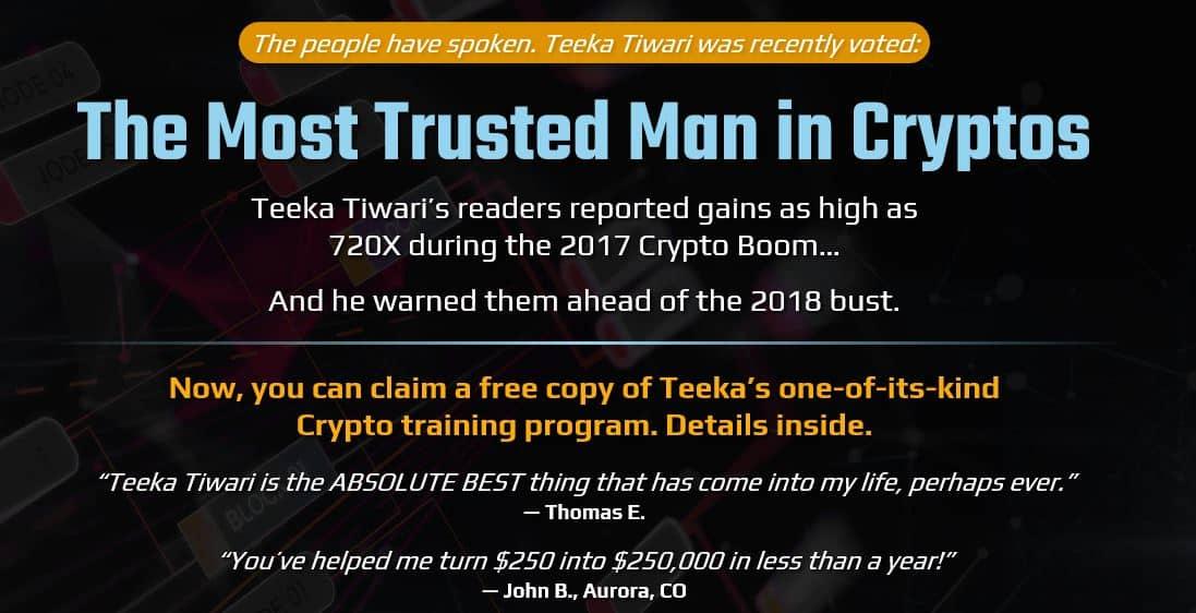 """""""The Most Trusted Man In Cryptos"""" [Teeka Tiwari] 5"""