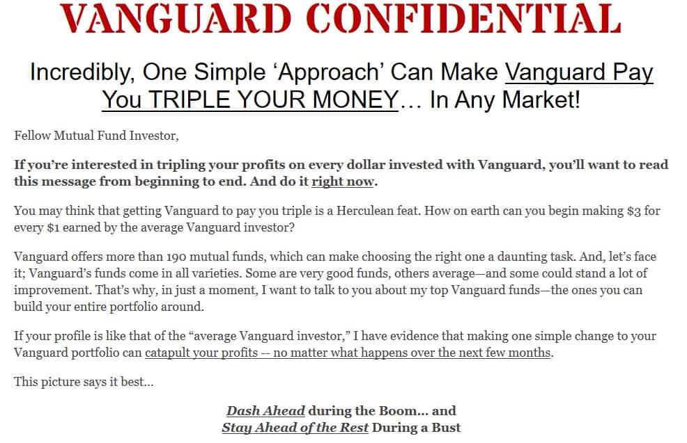 Vanguard Confidential
