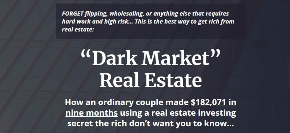 Dark Market Real Estate by Ronan McMahon