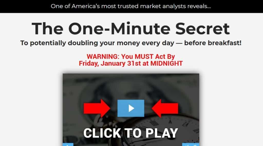 The One-Minute Secret by Alan Knuckman