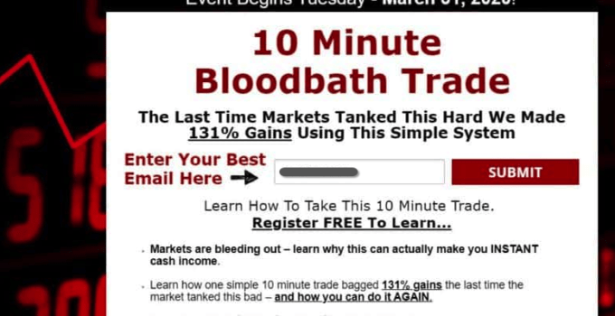 10 minute bloodbath trade event