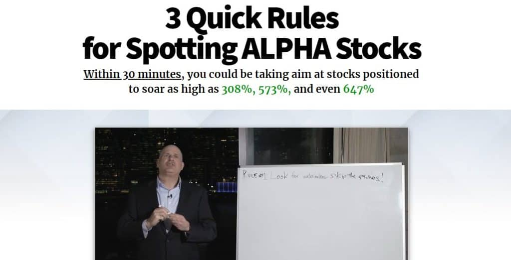 3 Quick Rules for Spotting ALPHA Stocks (Alpha Investor Report)