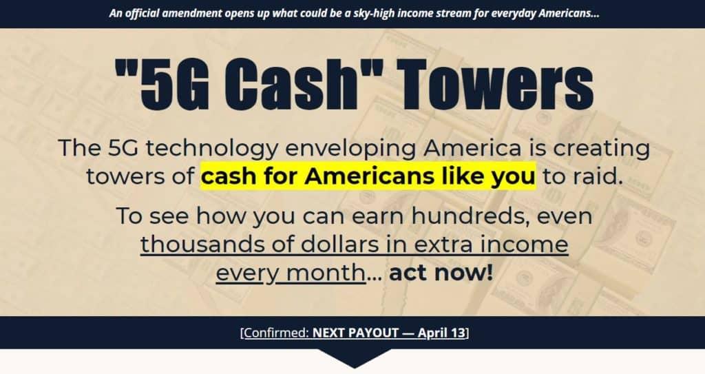 5G Cash Towers