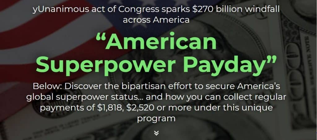 American Superpower Payday