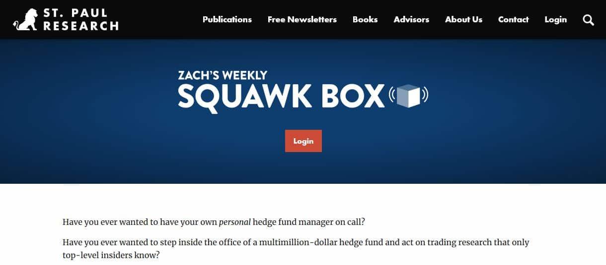 Zack's Weekly Squawk Box