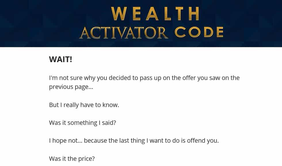 The Wealth Activator Code