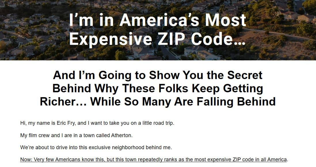 I'm in America's Most Expensive Zip Code