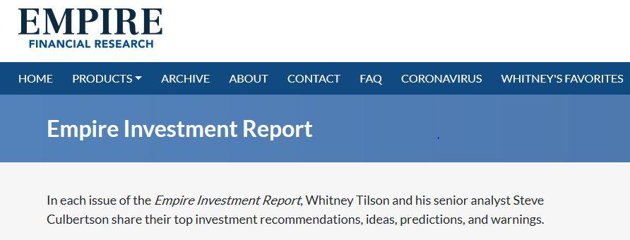 """Empire Investment Report"" [Unbiased Review] 11"