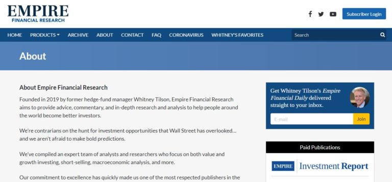 Empire Financial Research review