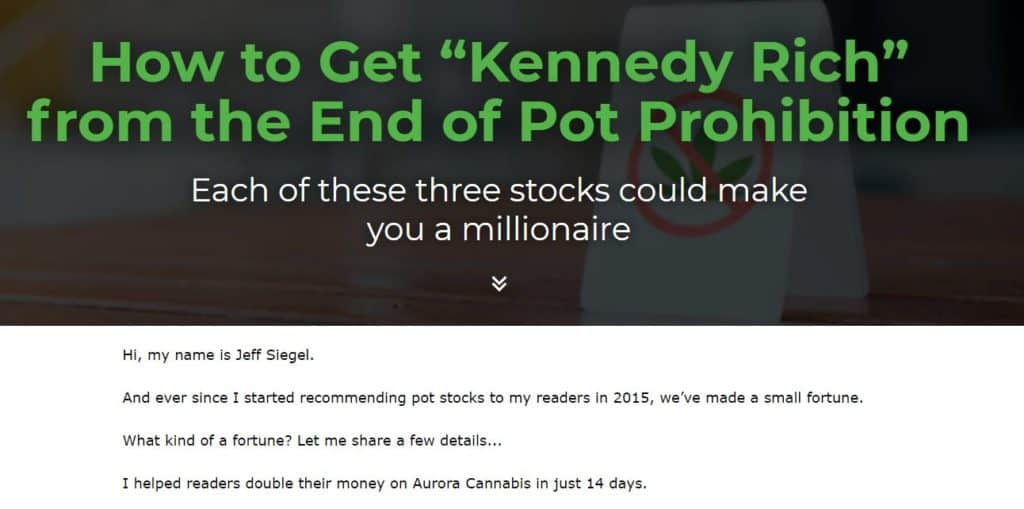 """How to Get """"Kennedy Rich"""" from the End of Pot Prohibition by Jeff Siegel"""