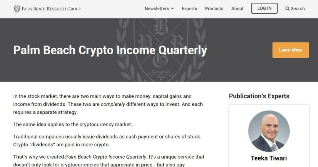 Palm Beach Crypto Income Quarterly