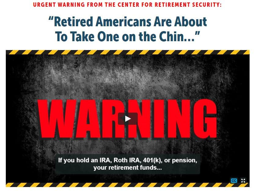 Retired Americans Are About To Take One On The Chin by Bob Carlson