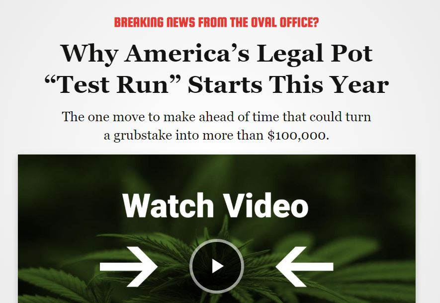 "Why America's Legal Pot ""Test Run"" Starts This Year (Teeka Tiwari)"