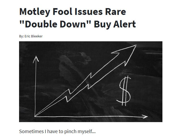 "Motley Fool Issues Rare ""Double Down"