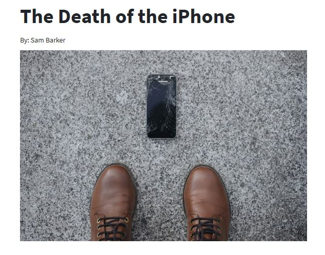 "Motley Fool ""The Death Of The iPhone"""