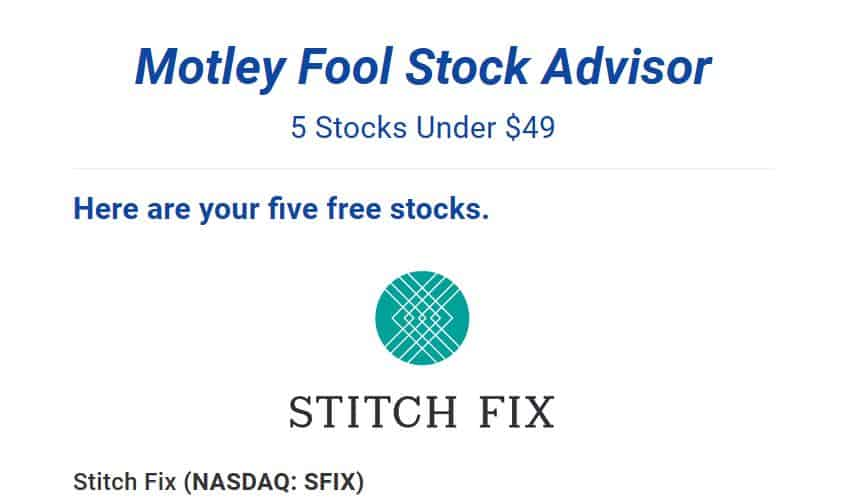 "Motley Fool ""5 Stocks Under $49"""