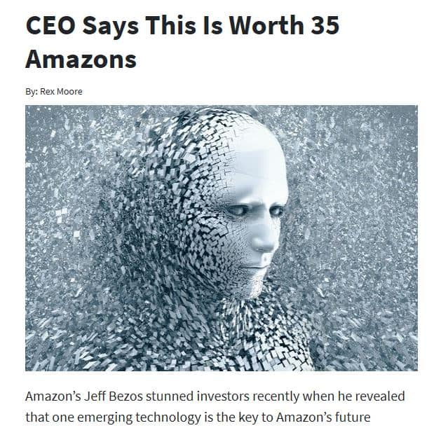 CEO Says This Is Worth 35 Amazons